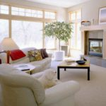 Bright, clean traditional living room
